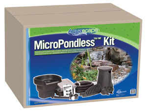 Aquascape Pond Supplies: 4'x6' MicroPondlessT Waterfall Kit | Part Number 99769 Learn more about Aquascape Pond Supplies at SunlandWaterGardens.com
