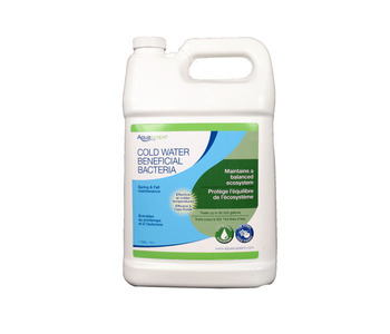 Aquascape Pond Supplies: Cold Water Beneficial Bacteria/Liquid 4 ltr/1.1 gal | Part Number 96021 Learn more about Aquascape Pond Supplies at SunlandWaterGardens.com